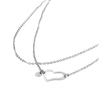 Storm HEART NECKLACE SILVER  - фото 12289